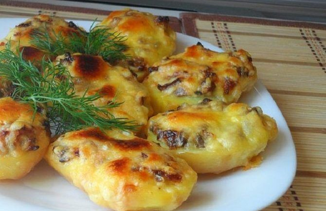 Plnené zemiaky so šampiňónmi a syrom! Rýchlovka pre hostí alebo na večeru - Báječná vareška