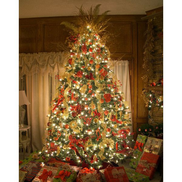 Best Decorated Christmas Trees | The Best Artificial Prelit Christmas Trees - Polyvore