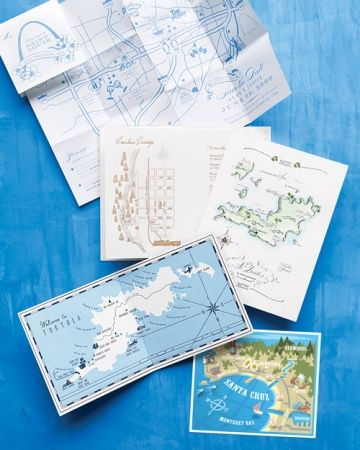 Directions for Your Wedding Guests: Prepare them for your wedding adventure with custom maps you can slip into save-the-dates, invitations, or welcome bags, personalized with illustrations indicating all the points of interest.