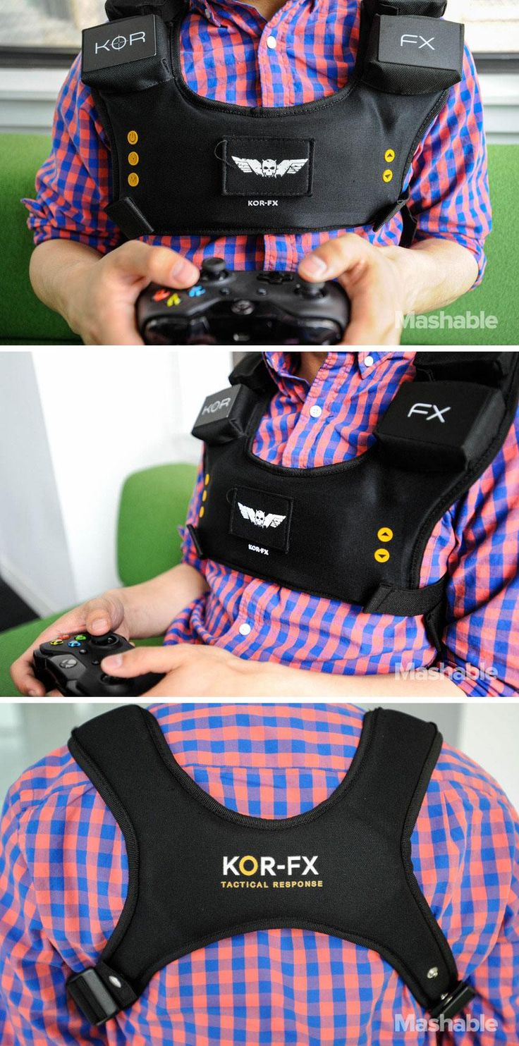 The Kor-Fx 4DFX gaming vest provides tactile feedback to put you right inside your favorite video games.