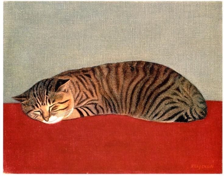 猫- Neko / cat. 1966年 宮城県美術館所蔵 - Miyage Pref. Museum Exhibition. Japan.