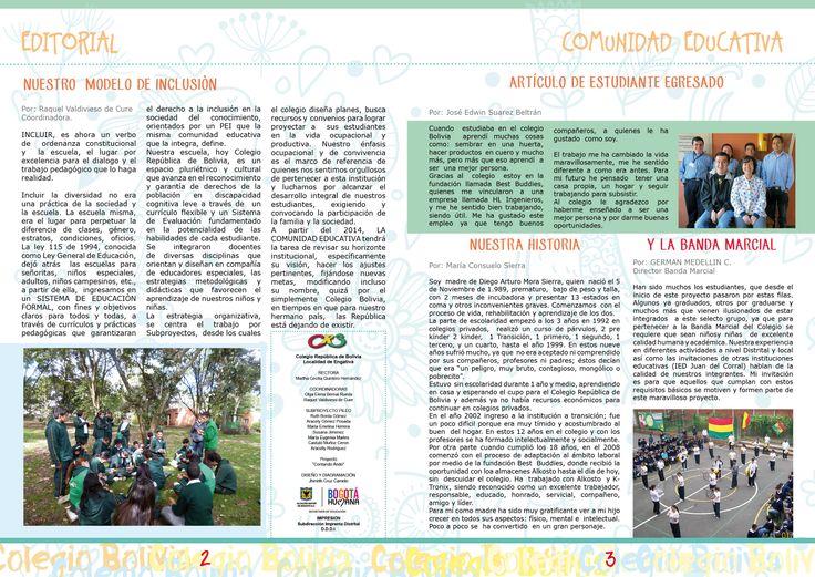 Diseño y diagramación de periódico República de Bolivia