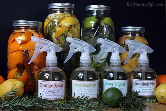 Natural Citrus Vinegar Cleaners