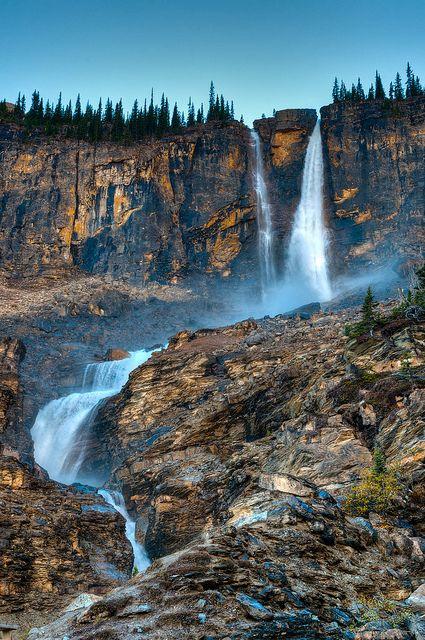 Twin Falls in Yoho National Park, British Columbia, Canada