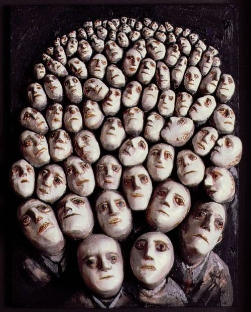 16chakras:  Evelyn Williams - People Waiting, 1986