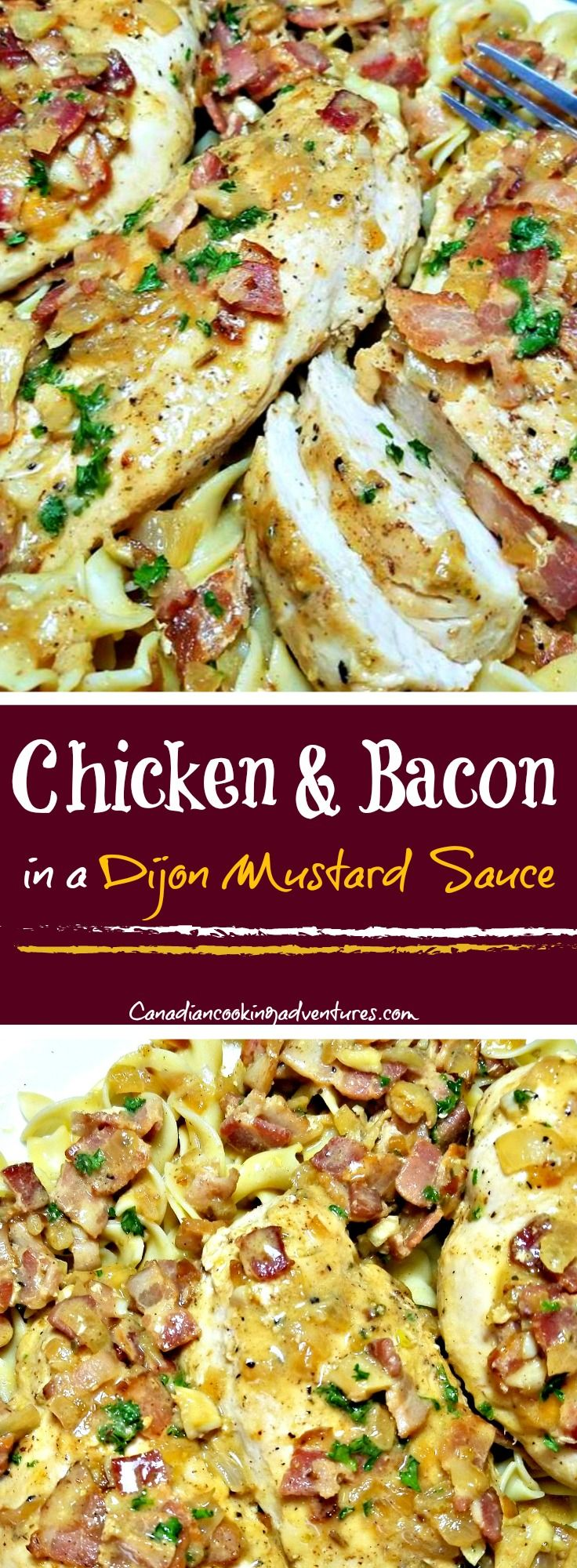 Chicken and Bacon in a Dijon Mustard Sauce