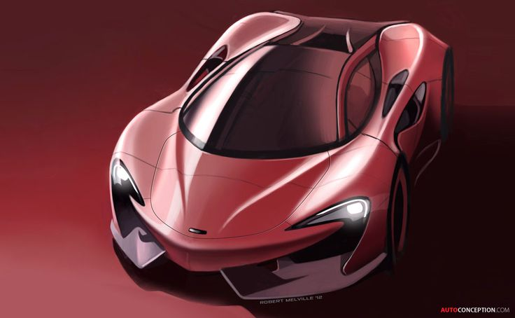 McLaren McLaren 570S Coupé car design sketch by Robert Melville
