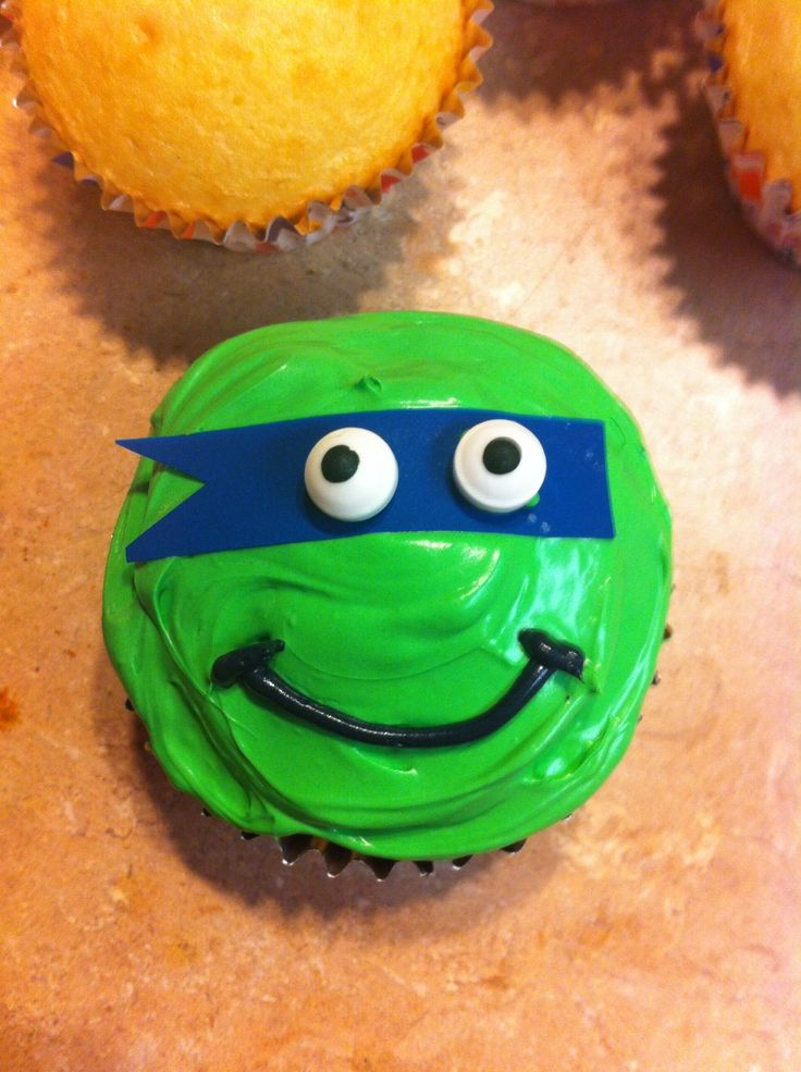 How to Make Teenage Mutant Ninja Turtle Cupcakes