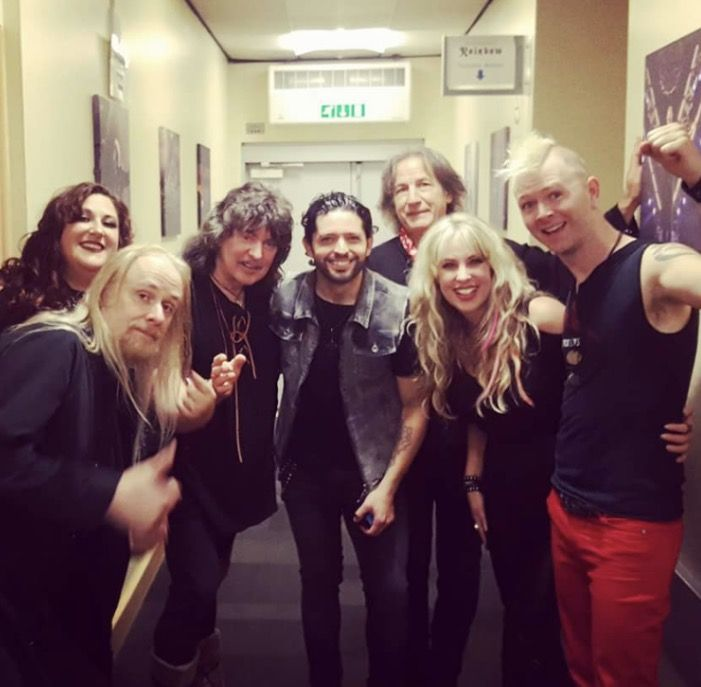 Ritchie Blackmore's Rainbow backstage June 2017
