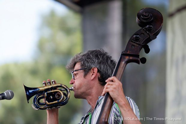 James Singleton performs during his set with Gillet & Singleton during Mid-City Bayou Boogaloo on Sunday May 18, 2014.