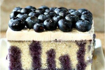 Blueberry Lemon Poke Cake