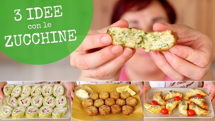 ZUCCHINE 3 Idee Facili - Ricetta Polpette di Zucchine - Rotolo di Zucchi...