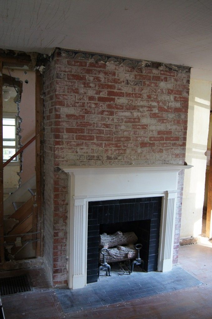 1000 images about fireplaces on pinterest brick - Red brick fireplace makeover ...