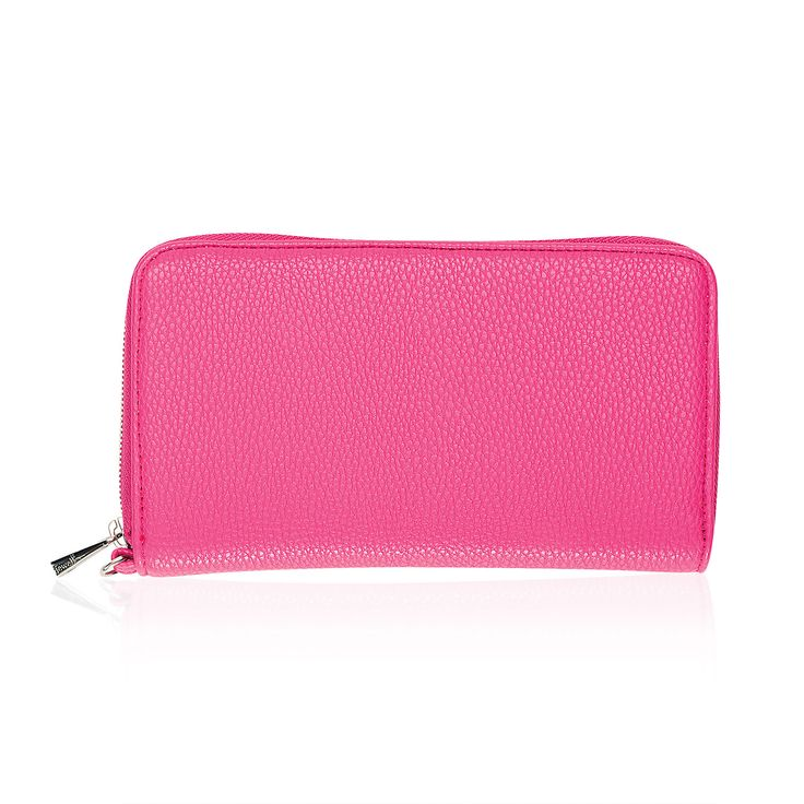 All About The Benjamins in Candy Pink Pebble for $48 - Fashionable, functional and on special all this January! This new wallet has 13 interior card pockets, an ID window, flat pocket for bills, zipper closure and a D-ring to attach a Wristlet Strap. It's a trendy look that'll take you from day to night in style.  Via @thirtyonegifts