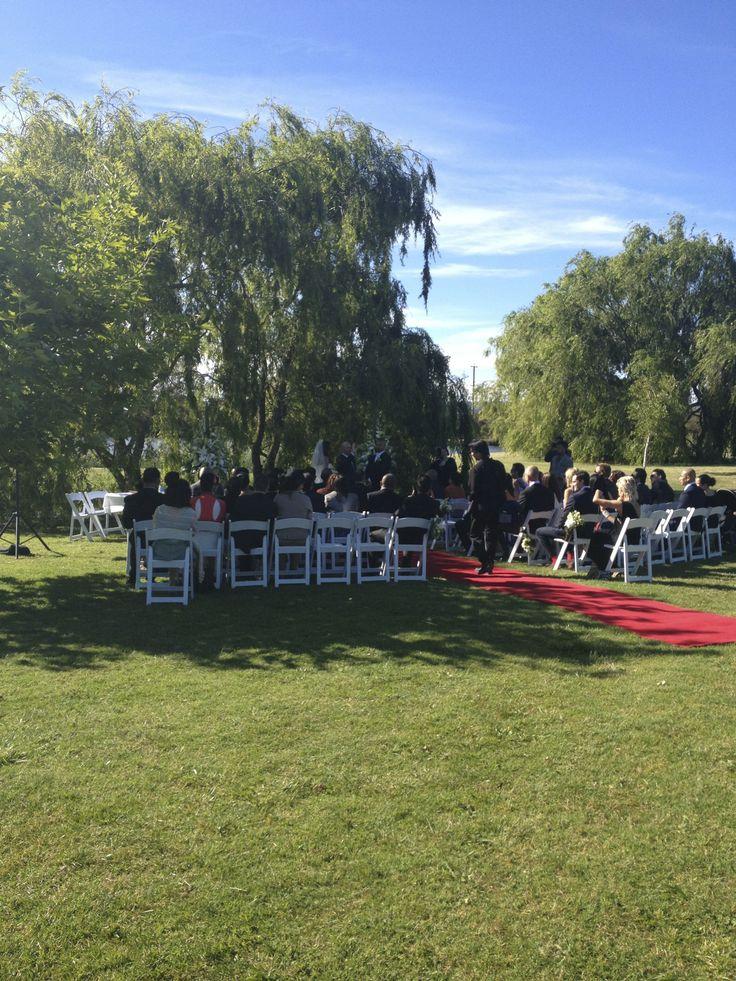 Ceremony by the willows  Weddings Stillwater at Crittenden - Mornington Peninsula  www.stillwateratcrittenden.com.au