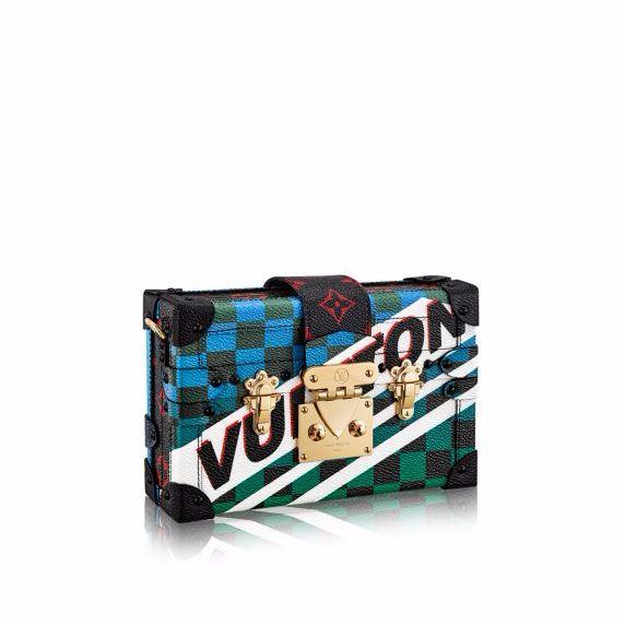 Louis Vuitton Multicolor Race Print Petite Malle Bag