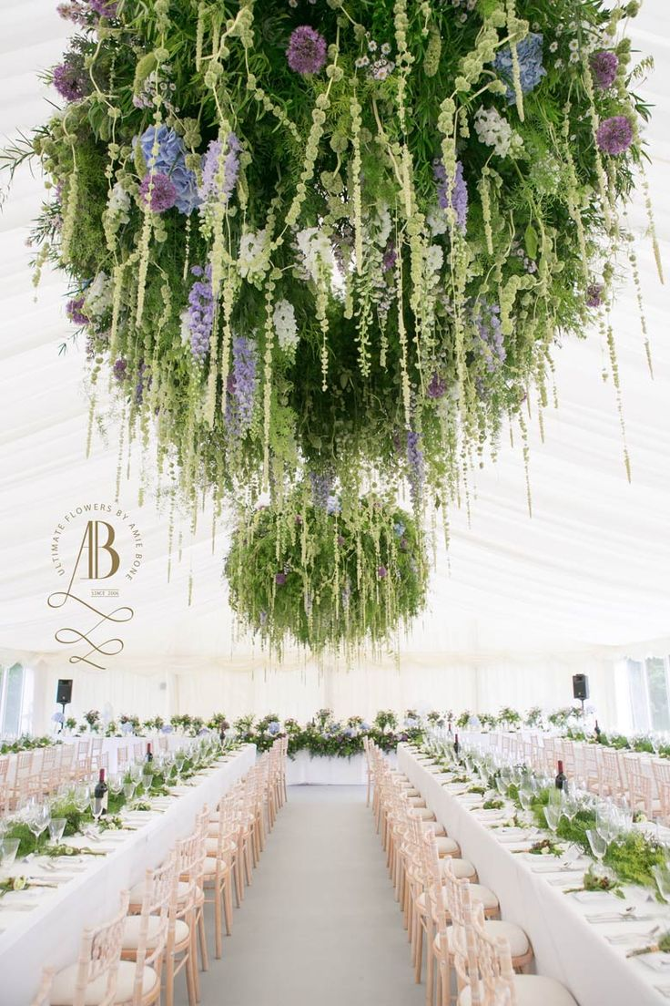 Marquee foliage chandelier by amie bone flowers