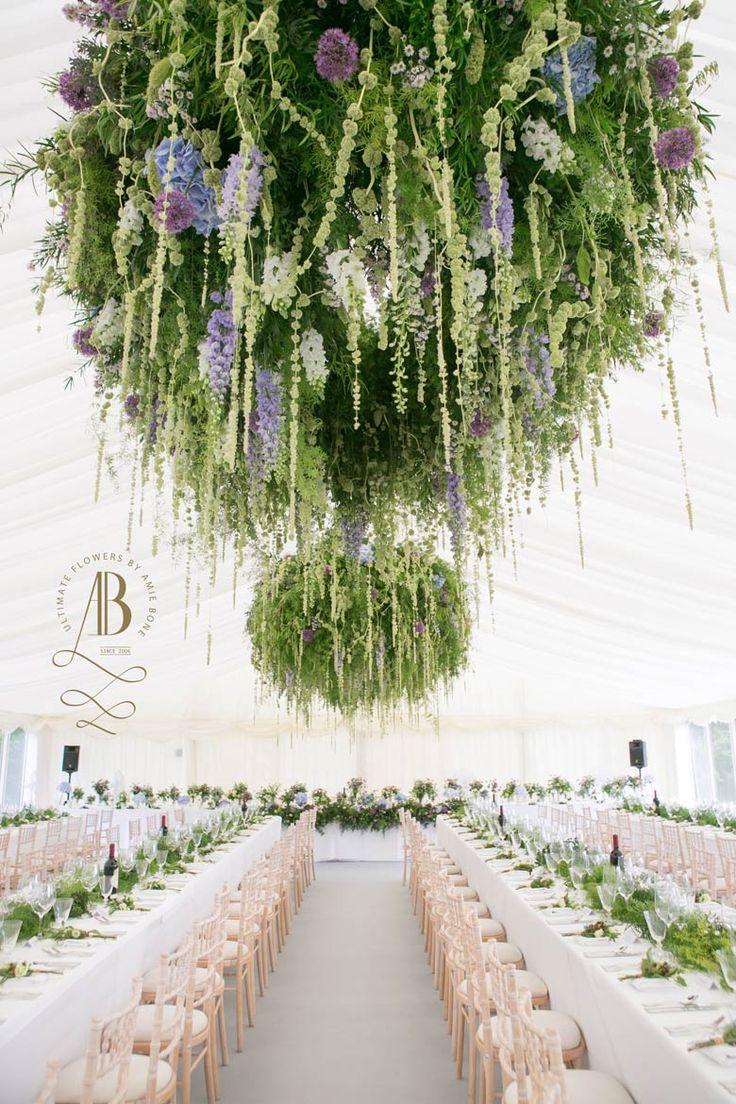 Marquee foliage chandelier by amie bone flowers