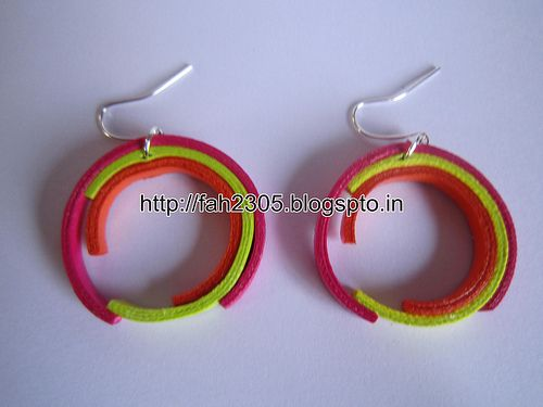 Free Form Quilling - Paper Quilling Teardrops Jewelry Set (FAH01-229)  For buying please contact us at: fah2305@yahoo.co.in