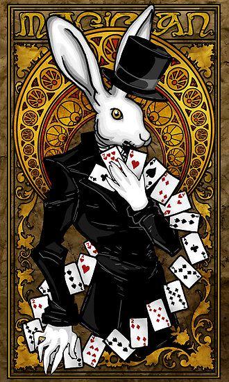 Rabbit Tarot Card
