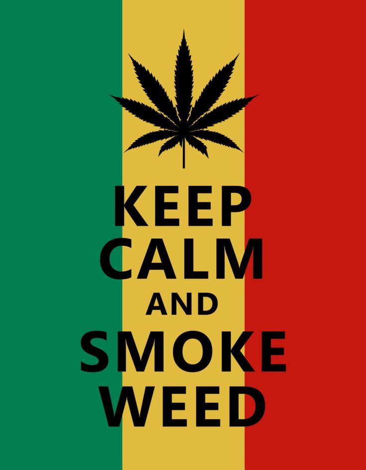 Keep Calm Smoke Weed Jamaican Background