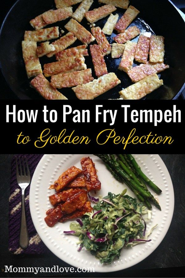 How to Pan Fry Tempeh to Golden Perfection | www.mommyandlove.com