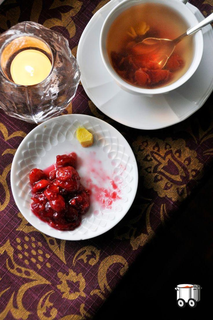 Szybko Tanio Smacznie: Rozgrzewająca herbata lipowa z  imbirem i konfitur...