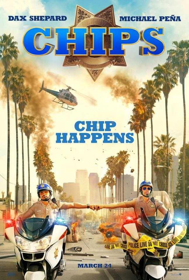 CHiPs es una nueva comedia de acción de 2017 dirigida por Dax Shepard. Esta historia trata de un nuevo chico en el oficial de bloque es cooperado con una estrella solidificada en la Patrulla de Carreteras de California, sin embargo el principiante pronto