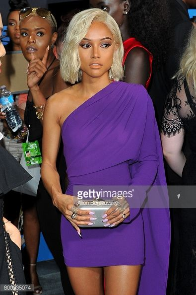 News Photo : Karrueche Tran arrives at the 2017 BET Awards at...