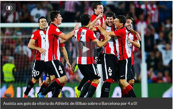 Assistir Barcelona x Athletic Bilbao AO VIVO 17/08/2015 - Final Supercopa da Espanha
