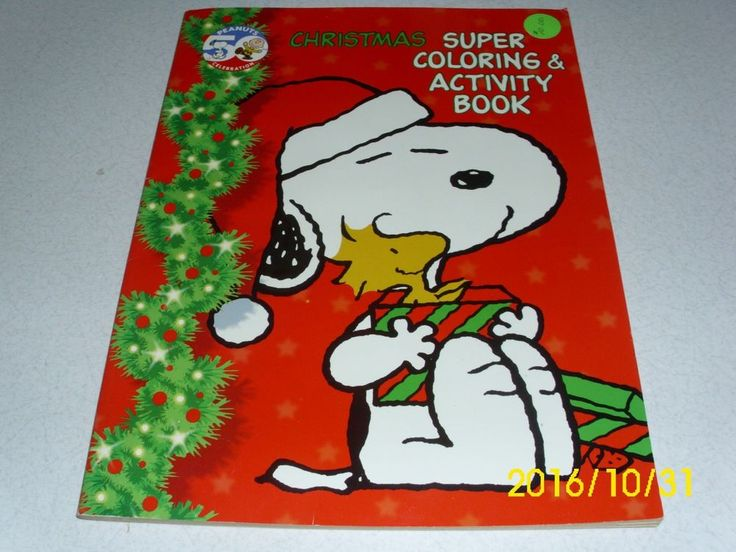 50th Peanuts Celebration CHRISTMAS Super Coloring Activity Book 2000 Uncolored