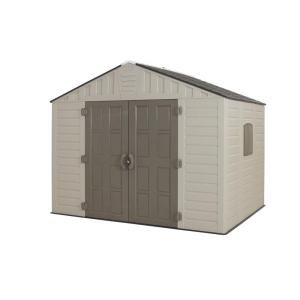 US Leisure 10 ft. x 8 ft. Keter Stronghold Resin Storage Shed 157479 at The Home Depot - Mobile