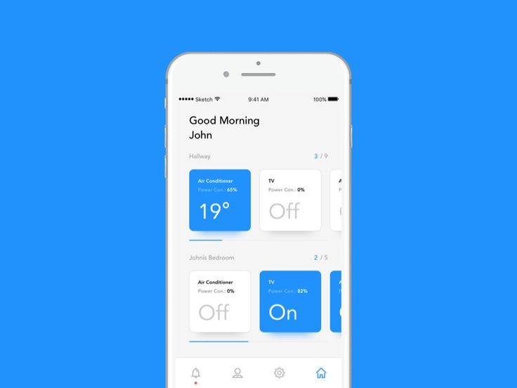Remote App - Home Page by Prathmesh