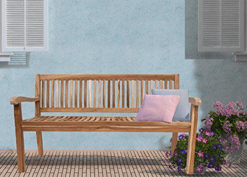 SAM� Teak-Holz, 3 Sitzer Gartenbank, Sitzbank, 150 cm, Kingsbury, massive Holzbank, ideal f�r den Balkon oder Garten