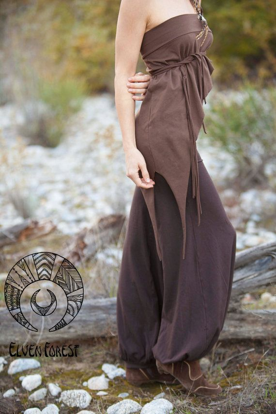 Elven Over-Skirt Shirt in Brown, light brown, Black or Purple