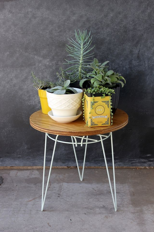 Plant Stand End Table DIY by Smile and Wave.