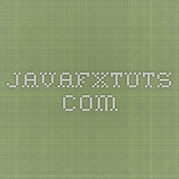 11 best javafx images by Ganesh Swami on Pinterest | Tutorials ...