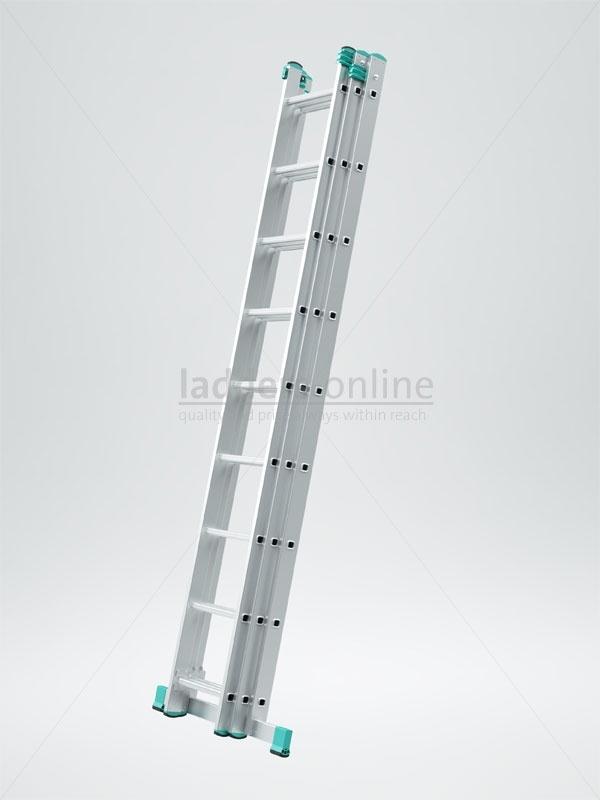 £113.95    2.58m (9 Rung) Horizon Triple Extension Ladder    www.ladders-onlin...