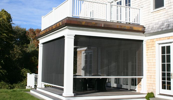 17 best images about wood decks on pinterest wooden for Retractable screen porch systems