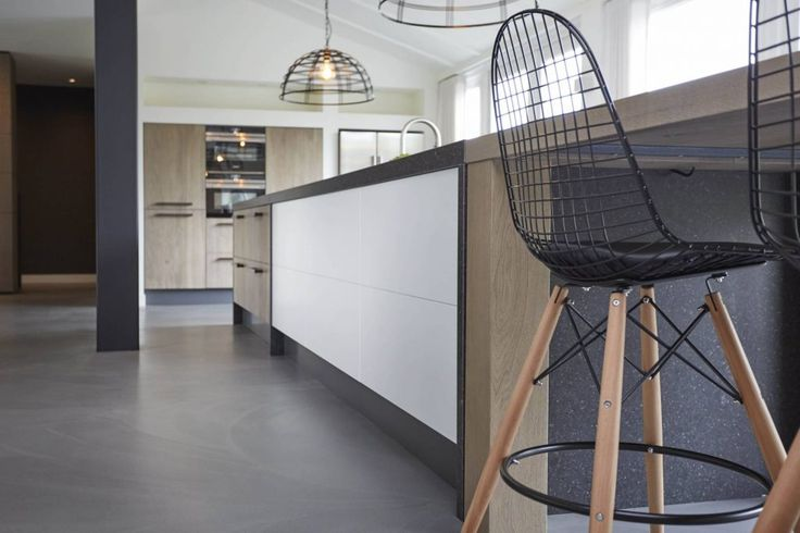Grote moderne woonkeuken | Houtwerk Hattem