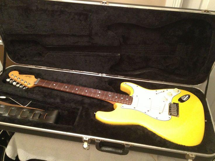 1989 USA FENDER STRATOCASTER PLUS Graffiti Yellow l@@k !!! PRICE REDUCED 1799$ #Fender