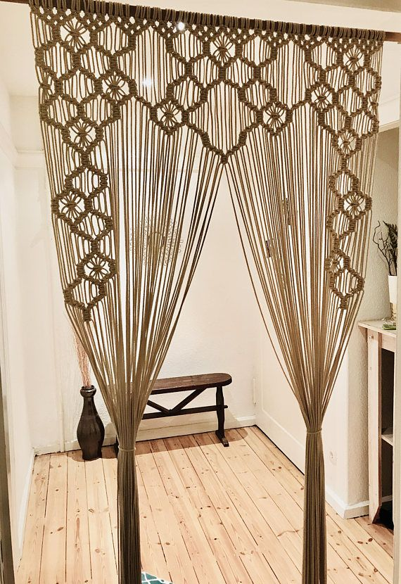 Macrame Curtain Room Divider Window Treatment Wedding Backdrop