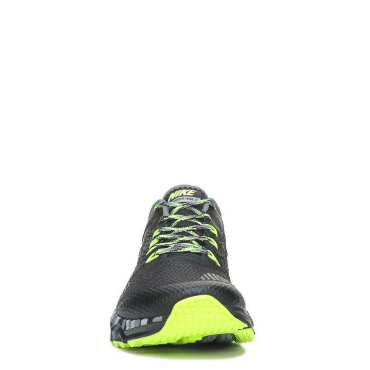 Nike Men's Dual Fusion Trail Running Shoes (Black/Grey/Volt) - 7.0 D