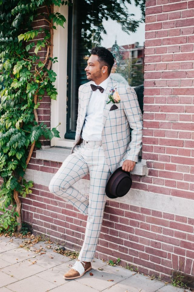 Nr 8. Dit een man die durft! Gewoon trouwen in ruiten! #mannenweek