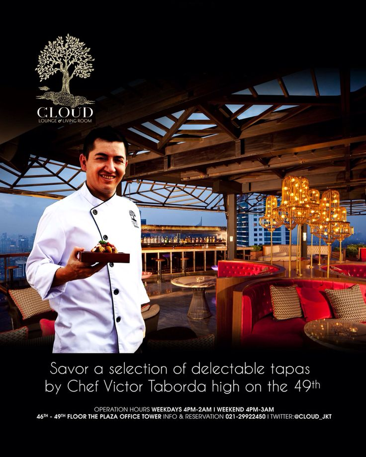 Chef victor taborda for cloud lounge