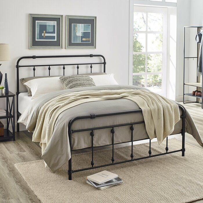 Gracie Oaks Keats Metal Bed Frame, Wayfair Metal Bed Frames Queen