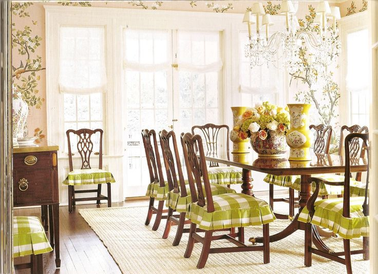 demi skirts on chairs for dining room - Traditional Dining Table And Chairs