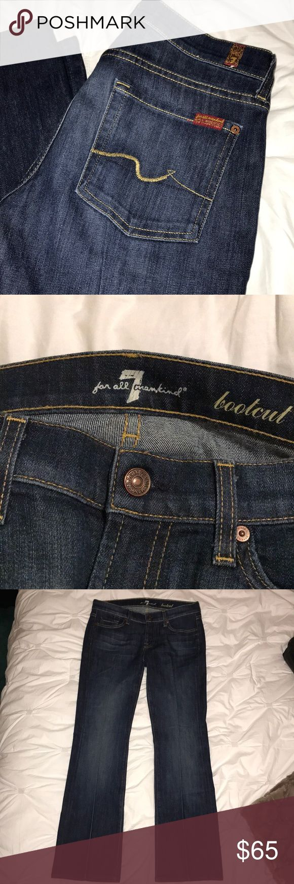 7 for All Man Kind Jeans 7 For All Mankind Bootcut Jeans   Great pair of jeans that fit just right, but are too short for me which is why they are being sold   Only worn once and in excellent condition 7 For All Mankind Jeans Boot Cut