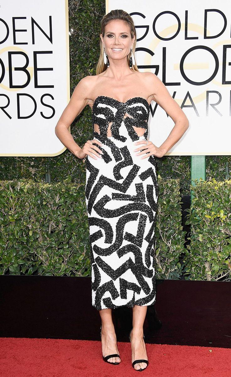 Хайди Клум на церемонии вручения наград премии «Золотой глобус» в Лос-Анджелесе, 08 января 2017 г.