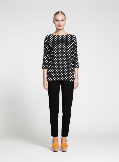 Ilmapallo-paita (musta, luonnonvalkoinen)  Vaatteet, Naiset, Puserot ja t-paidat   Marimekko